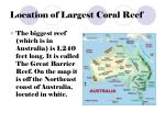 location of largest coral reef