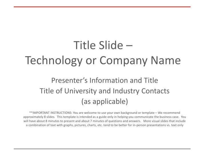 Title slide technology or company name