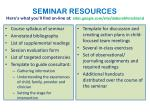 seminar resources here s what you ll find on line at s ites google com site deborahhirschland