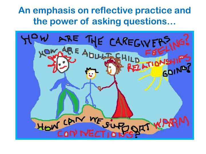 An emphasis on reflective practice and the power of asking questions…