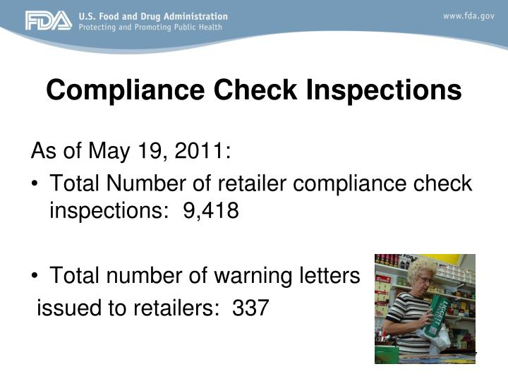 Compliance Check Inspections