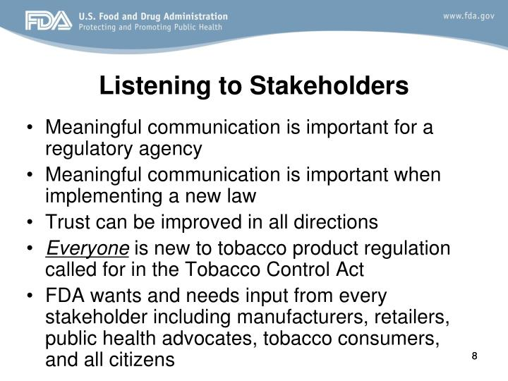 Listening to Stakeholders
