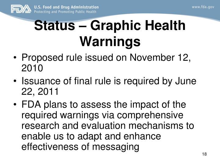 Status – Graphic Health Warnings