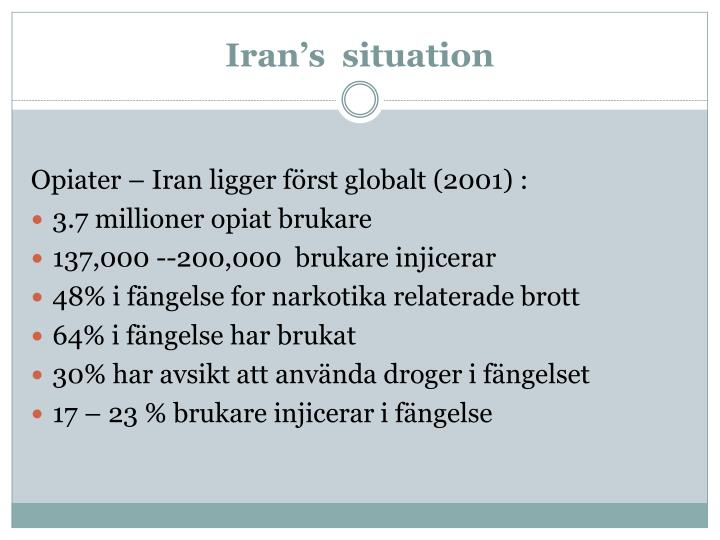 Iran's  situation
