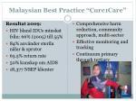 malaysian best practice cure1care