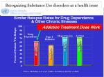 recognizing substance use disorders as a health issue