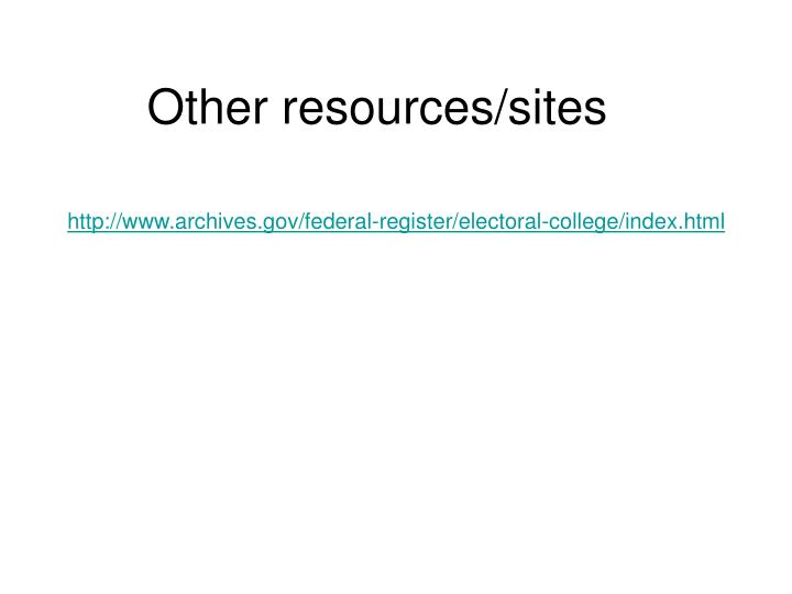 Other resources/sites