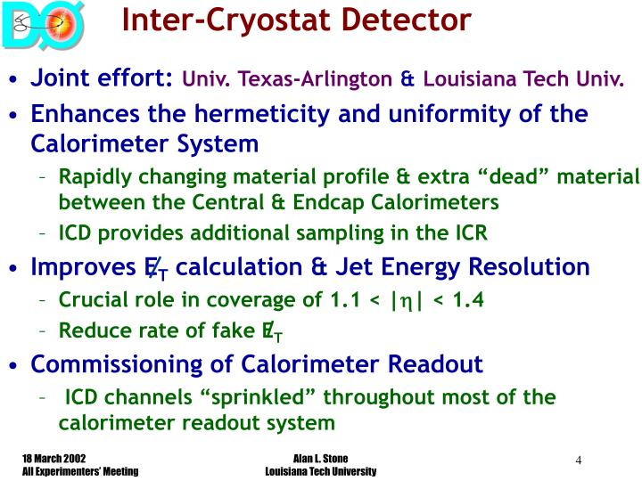 Inter-Cryostat Detector
