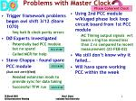 problems with master clock