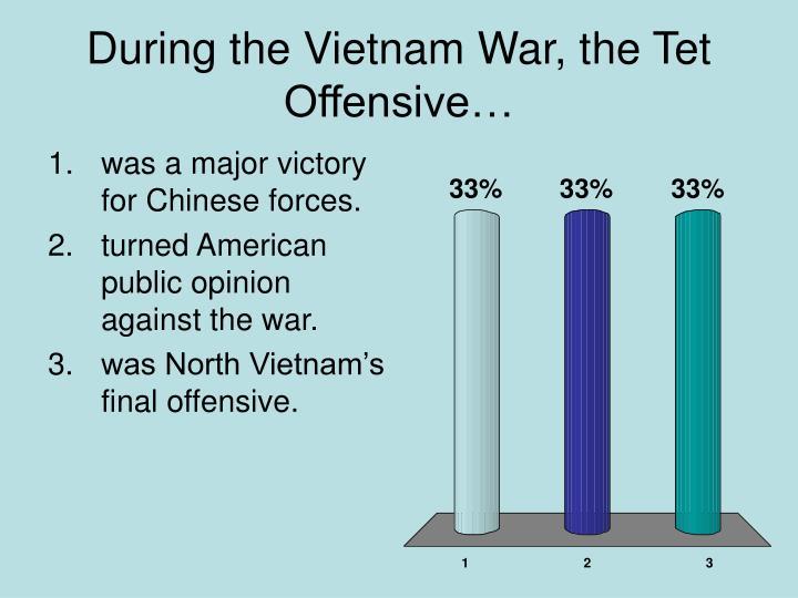 During the Vietnam War, the Tet Offensive…