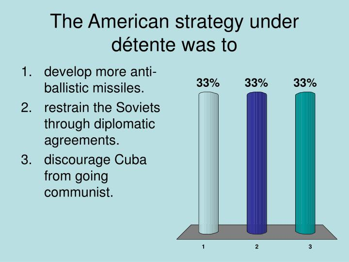 The American strategy under détente was to