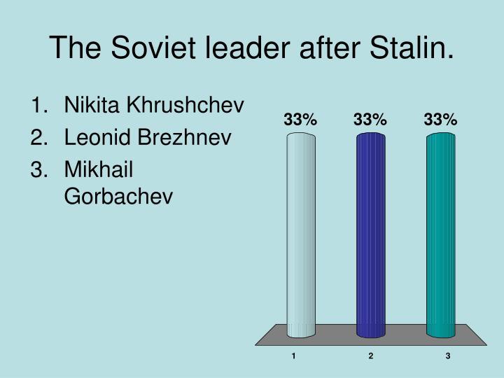 The Soviet leader after Stalin.