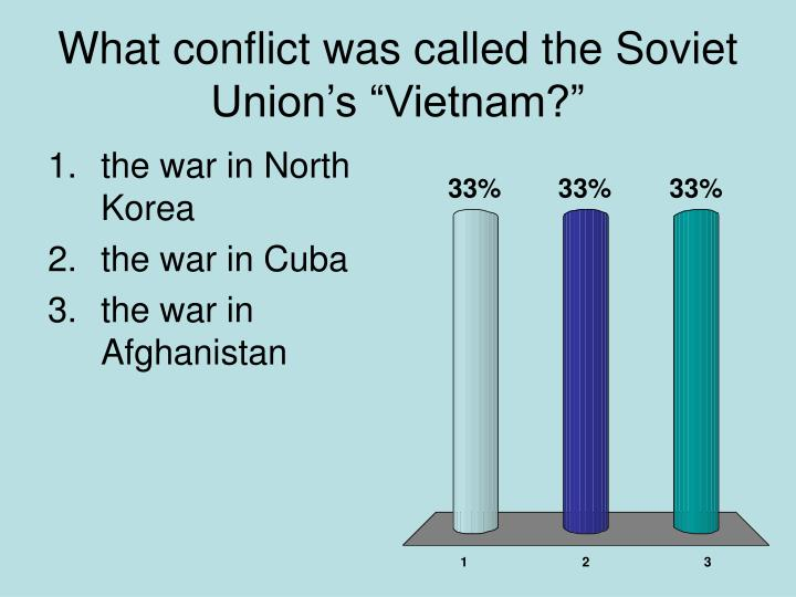 """What conflict was called the Soviet Union's """"Vietnam?"""""""