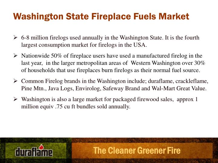 Washington State Fireplace Fuels Market