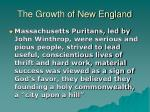 the growth of new england10