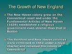 the growth of new england14