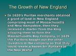 the growth of new england6