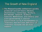 the growth of new england8