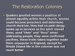 the restoration colonies18
