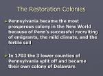 the restoration colonies20