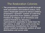 the restoration colonies5