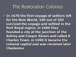 the restoration colonies6