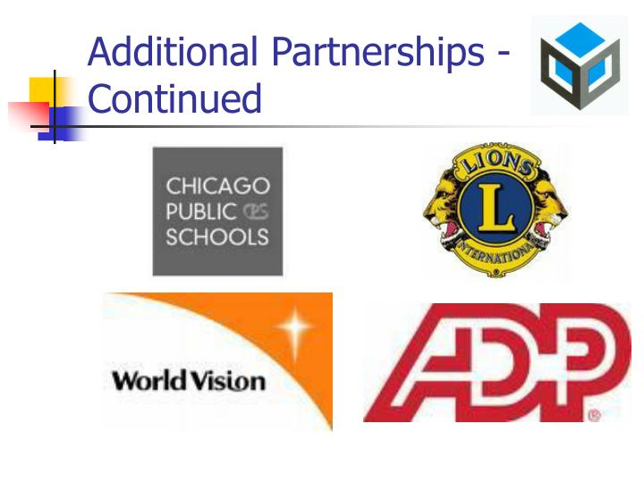 Additional Partnerships - Continued