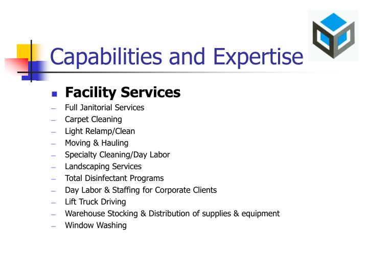 Capabilities and Expertise