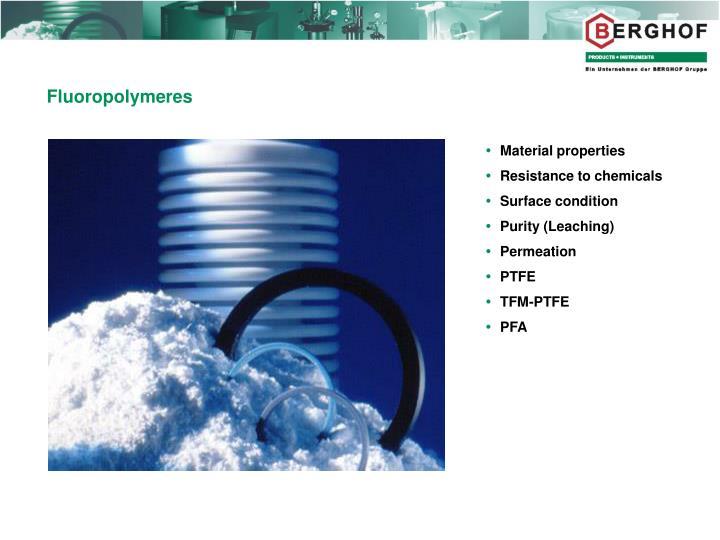 Fluoropolymeres