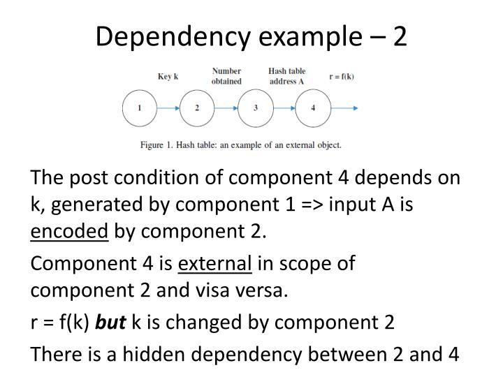 Dependency example – 2