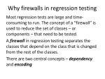 why firewalls in regression testing
