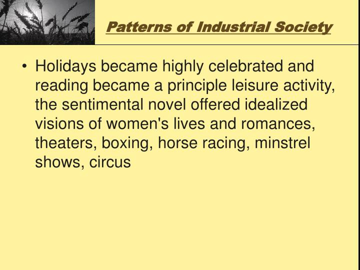 Patterns of Industrial Society