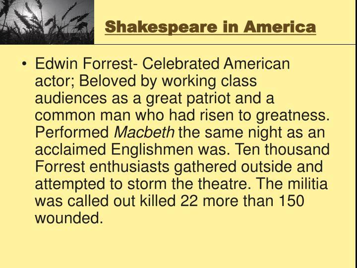 Shakespeare in America