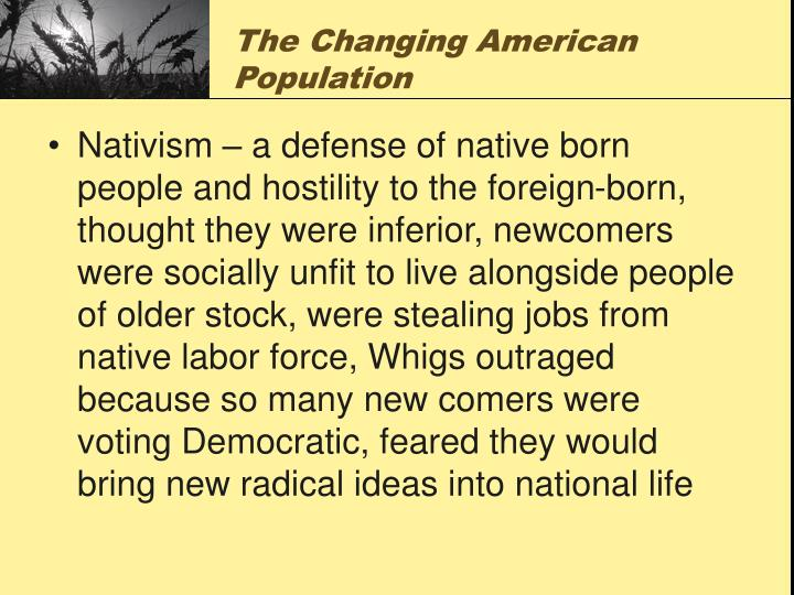 The Changing American Population