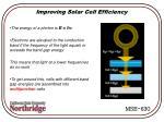 improving solar cell efficiency