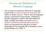euromosaic definition of minority language
