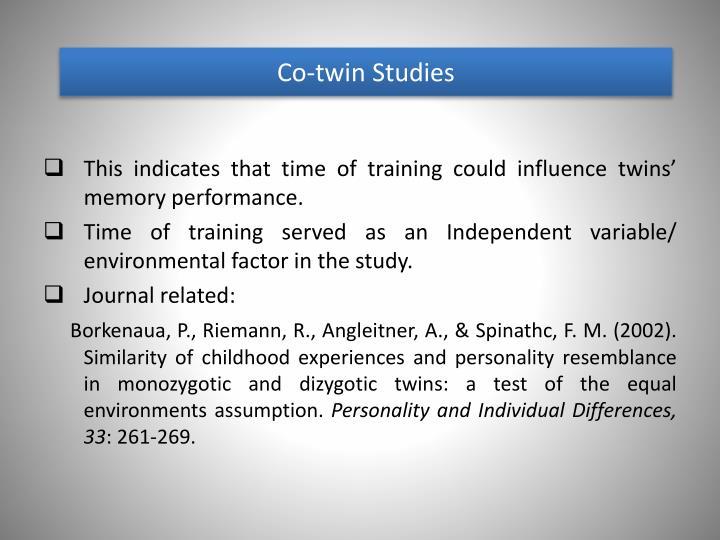 Co-twin Studies