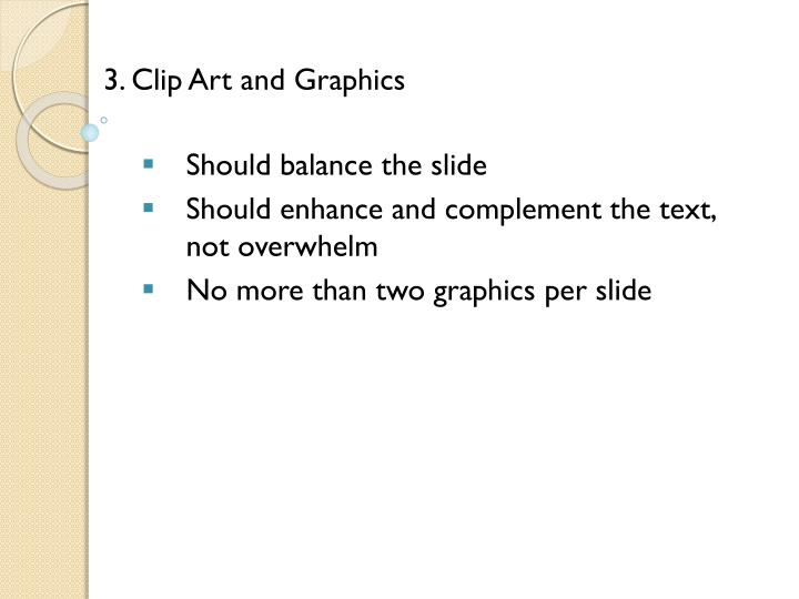 3. Clip Art and Graphics