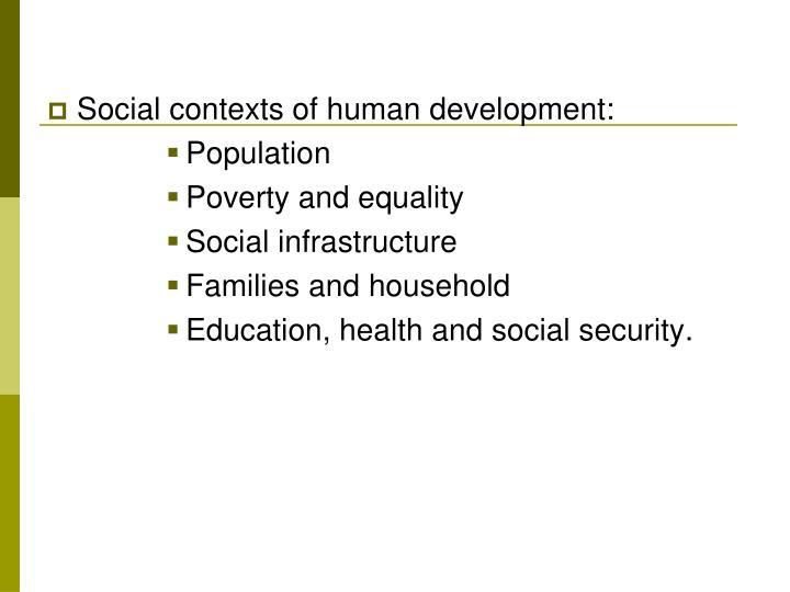 Social contexts of human development: