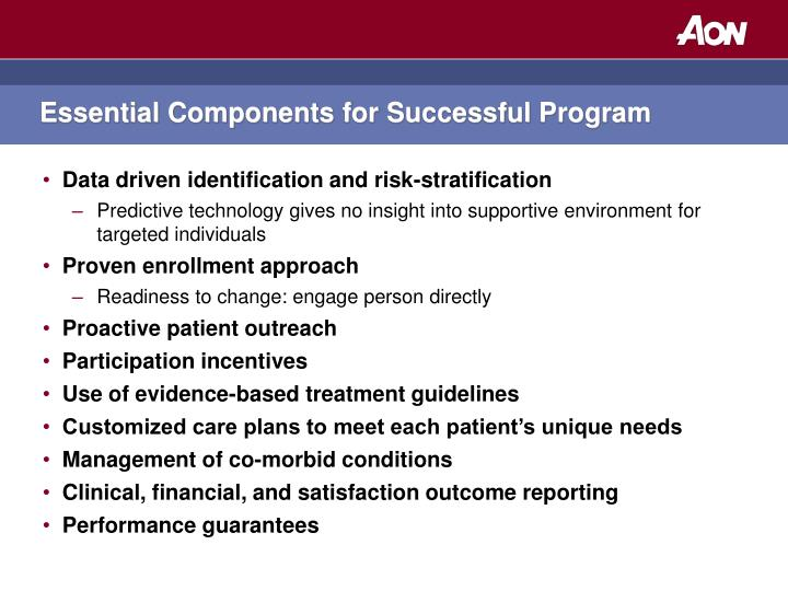 Essential Components for Successful Program