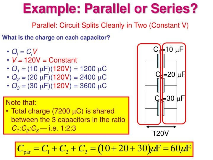 Parallel: Circuit Splits Cleanly in Two (Constant V)
