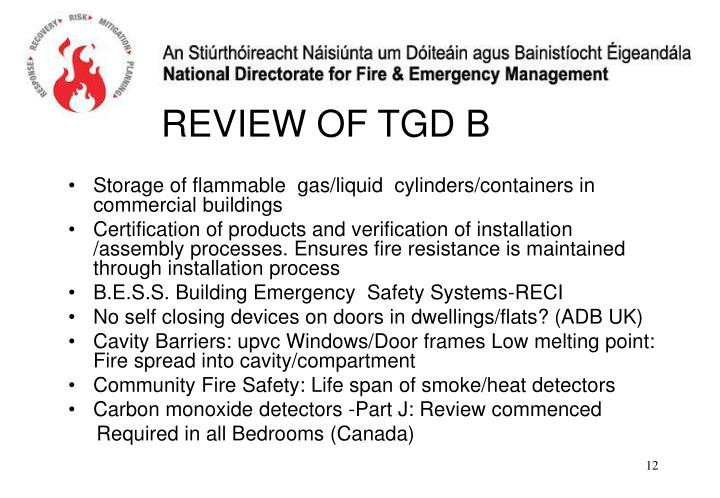 Storage of flammable  gas/liquid  cylinders/containers in commercial buildings