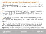 healthcare workers hand contamination 1
