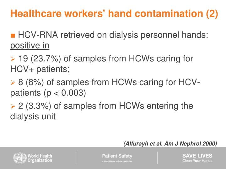 Healthcare workers' hand contamination (2)