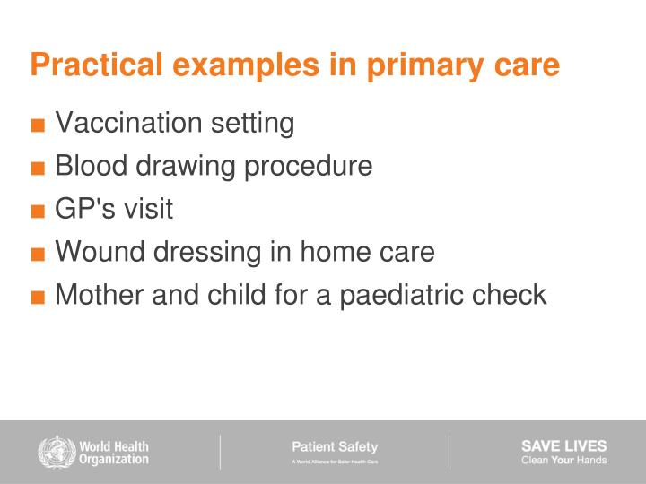 Practical examples in primary care
