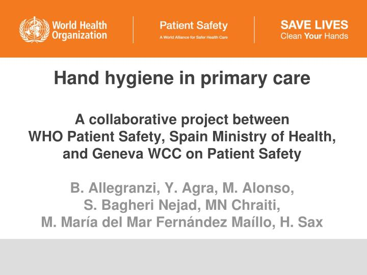 Hand hygiene in primary care