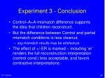 experiment 3 conclusion