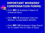 important workers compensation forms