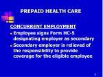 prepaid health care13