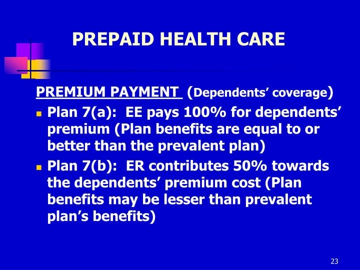 PREPAID HEALTH CARE